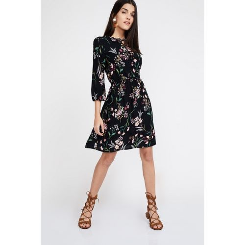 BOSSINI Floral Print Fit And Flare Dress