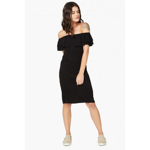 BOSSINI Dot Print Bardot Dress