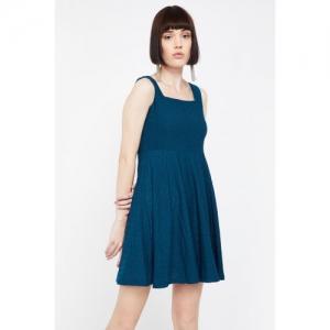 GINGER Patterned Knit Skater Dress