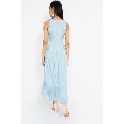 IMARA Embroidered Sleeveless Maxi Dress