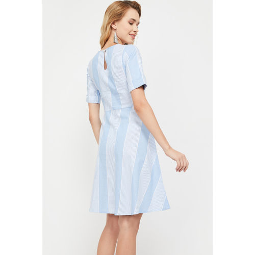 AND Striped Fit & Flare Dress