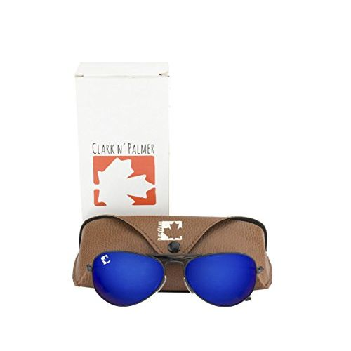 clark n palmer Mirrored Aviator Unisex Sunglasses - (CNP-RB-711 58 Blue Color Lens)