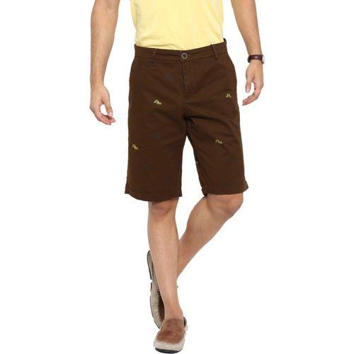 Showoff Printed Men Brown Chino Shorts