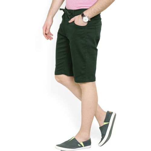 United Colors of Benetton Solid Men Dark Green Chino Shorts