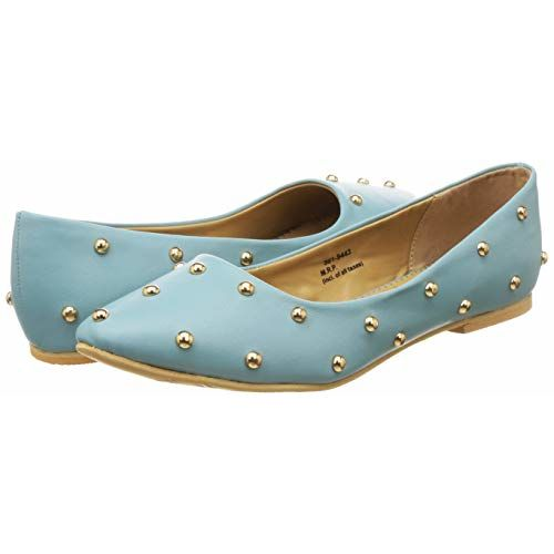 BATA Women's Blue Ballet Flats
