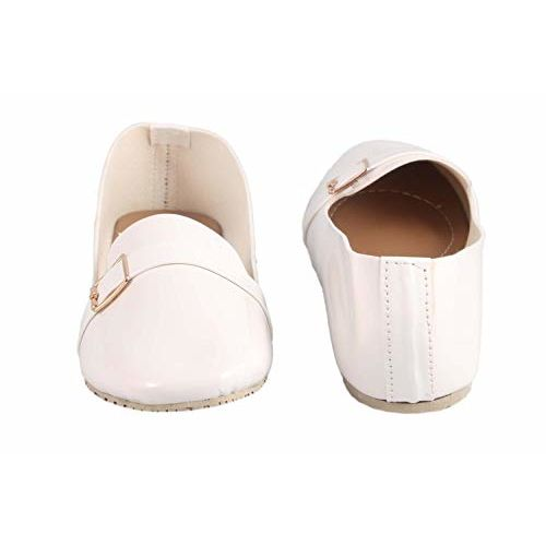 Honey Step Peach Extra Comfort Dust Resistant Soft Synthetic Ballet Flats Bellies for Women & Girls