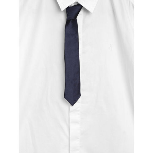 Gini and Jony Boys White Regular Fit Solid Partywear Shirt with Tie