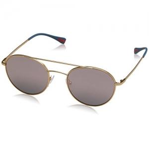 Prada Linea Rossa Men's 0PS 51SS Matte Gold/Dark Grey Mirror Pink Sunglasses