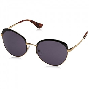 Prada PR 51TS LAX6N0 Antique Gold/Black Square Sunglasses