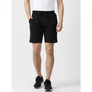 Monte Carlo Men Black Solid Regular Fit Sports Shorts