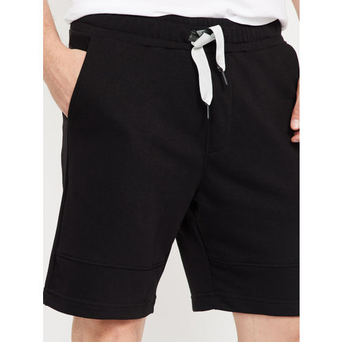Forca Men Black Solid Slim Fit Sports Shorts