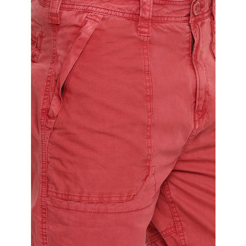 Breakbounce Men Red Solid Slim Fit Chino Shorts