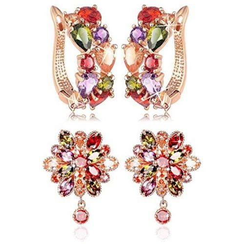 You Bella Stylish Fancy Party Wear Earings Jewellery Alloy Earring Set