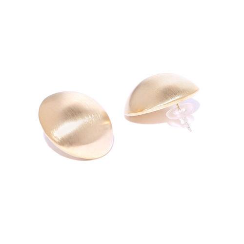 Jewels Galaxy Gold-Plated Circular Drop Earrings