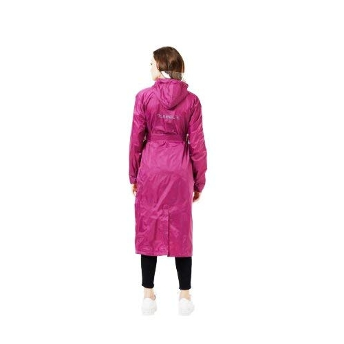 ZEEL Purple Plastic Solid Long Sleeve Rain Coat