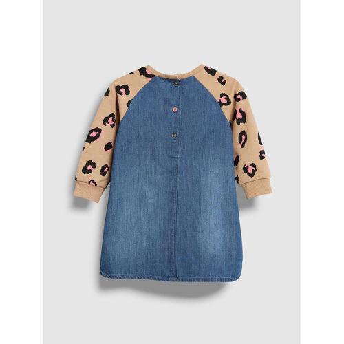 next Girls Blue Printed A-Line Dress