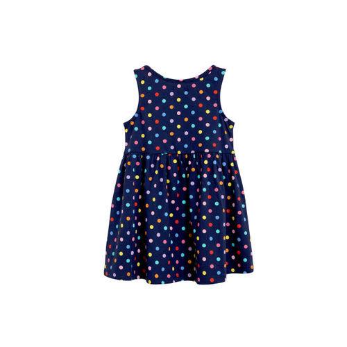 next Girls Navy Blue Printed T-shirt Dress