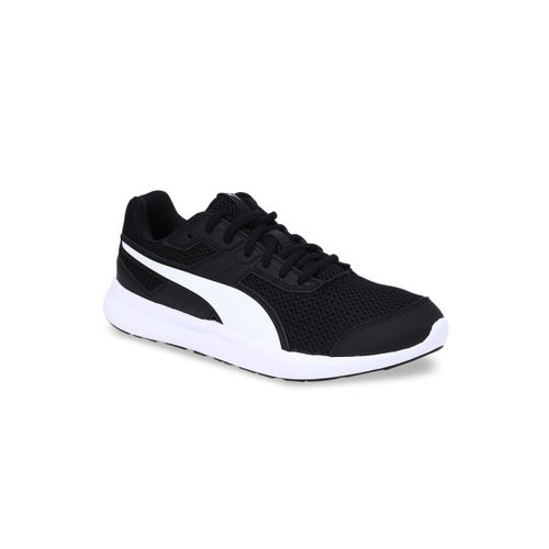 Puma Unisex Black Mesh Mid-Top Escaper Core Running Shoes