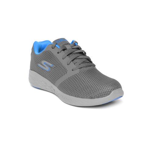 Skechers Men Grey Go 600 - Refine Running Shoes