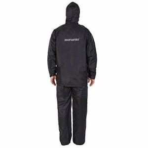 ZEEL RAINFIGHTER Reversible Waterproof Rainsuit (XL) Dark Black