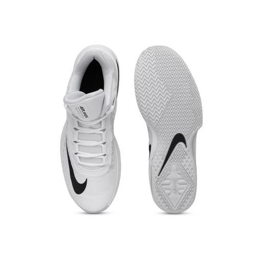 Nike Men White Air Max Infuriate 2 Mid-top Basketball Shoes