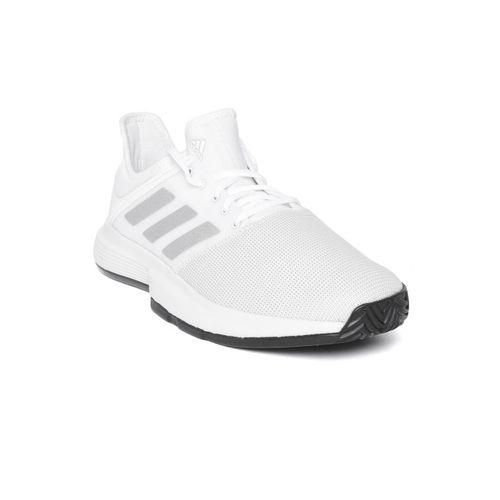 ADIDAS Men White Gamecourt Tennis Shoes