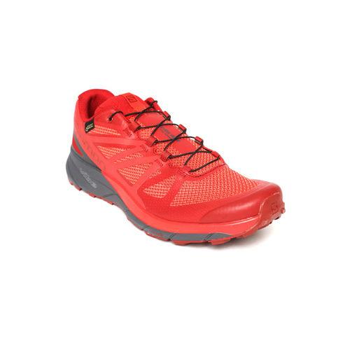 Salomon Men Red SENSE RIDE GTX INVISIBLE FIT Running Shoes