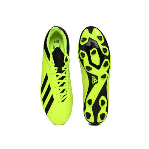 ADIDAS Men Fluorescent Green X 18.4 Flexible Ground Football Shoes