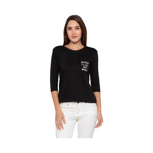 Globus Black Printed T-Shirt