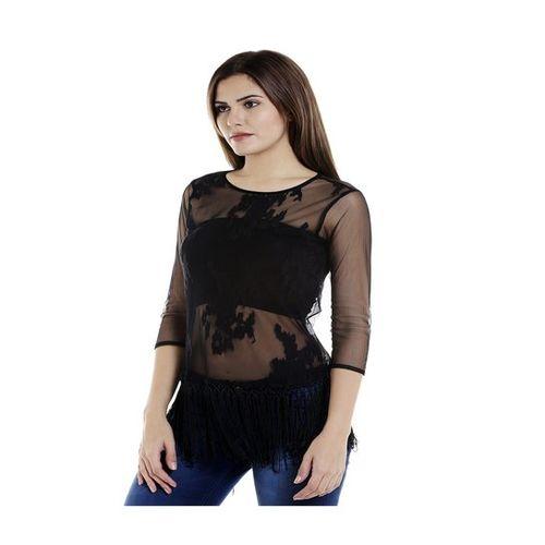 109 F Black Lace Top