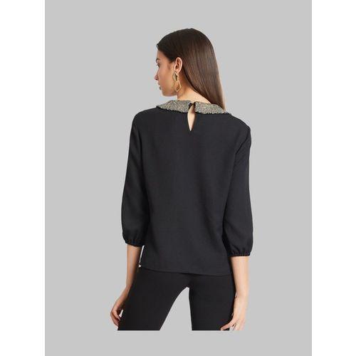 Kazo Black Embellished Top
