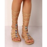 Indie Picks Browb Beaded Gladiator Sandals