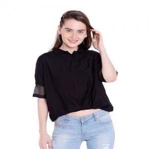 Spykar Black Cotton Top