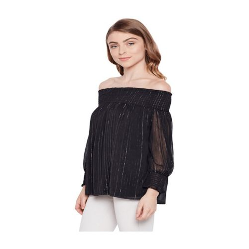 Oxolloxo Black Striped Top