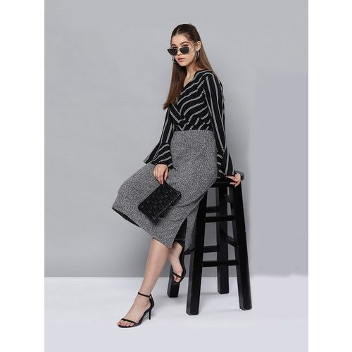 Street 9 Black Striped Top