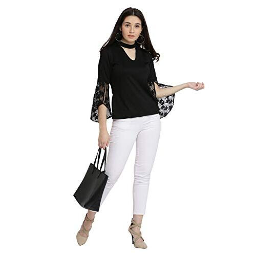 Miss Chase Black Lace Top