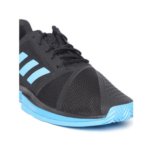ADIDAS Men Black & Blue Courtjam Bounce Clay Tennis Shoes
