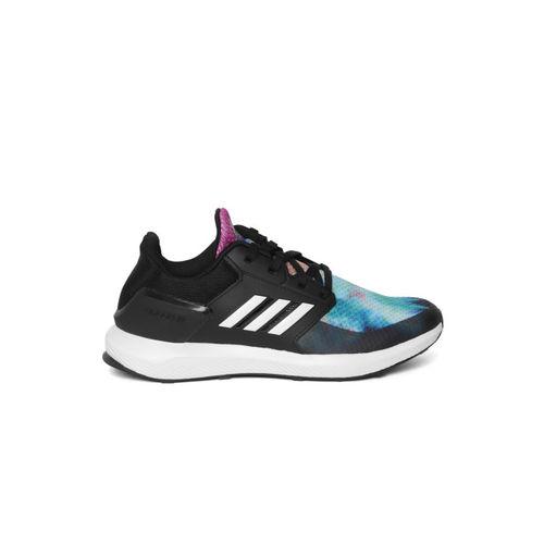 ADIDAS Kids Black & Blue RAPIDARUN X Running Shoes