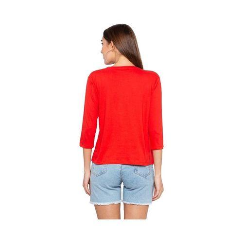 Globus Red Printed T-Shirt