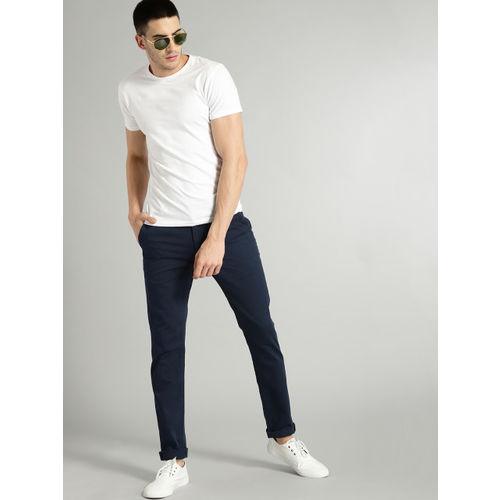 Roadster Men Navy Blue Slim Fit Basic Chinos