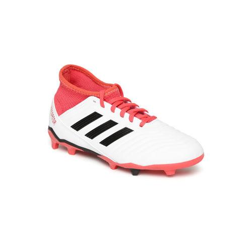 ADIDAS Boys White Predator 18.3 FG Football Shoes