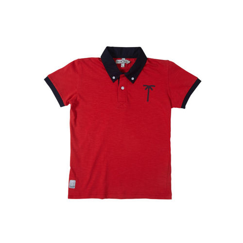 Palm Tree Boys Red Polo T-shirt