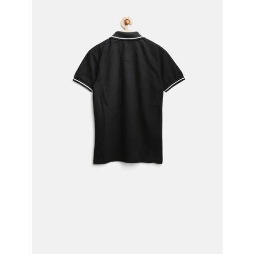 Palm Tree by Gini & Jony Boys Black Polo T-shirt