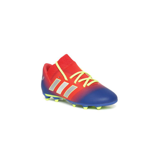 ADIDAS Boys Red & Blue NEMEZIZ Messi 18.3 FG Colourblocked Football Shoes