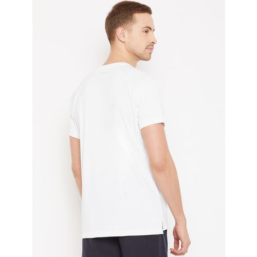 ADIDAS Men White Self-Design Climachill Tennis T-shirt