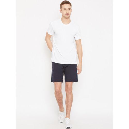 ADIDAS Men White Self-Design Climachill Tennis T-shirt