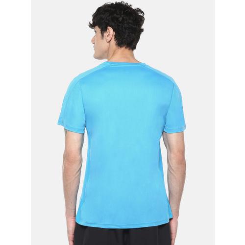 ADIDAS Men Blue D2M Cool Logo Printed Detail T-shirt