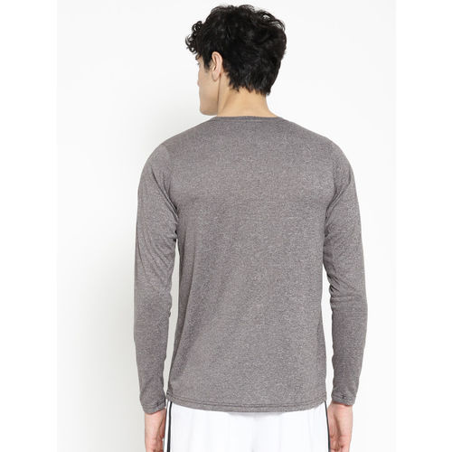 ADIDAS Men Grey Solid FREEL PRIME LS Training T-shirt