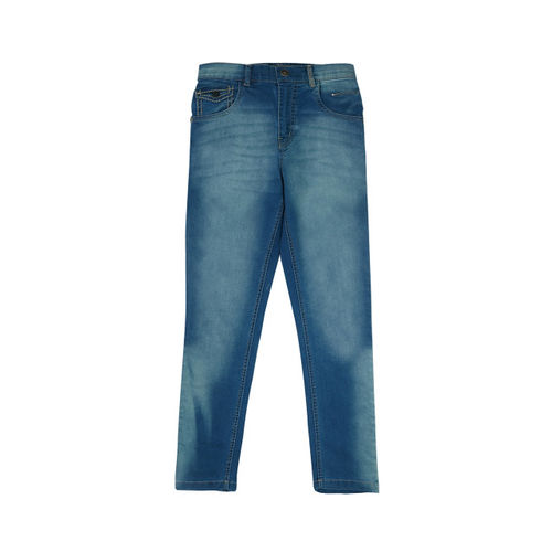 Palm Tree Boys Blue Regular Fit Mid-Rise Clean Look Jeans