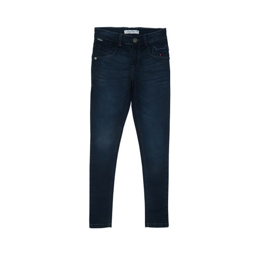 Palm Tree Boys Blue Jean Regular Fit Mid-Rise Clean Look Jeans